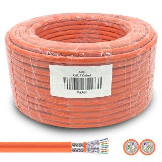 ARLI Cat7 Duplex Verlegekabel 100 m S/FTP PIMF Halogenfrei Twin Kabel Netzwerkkabel